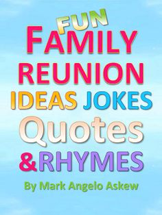 This Book Makes Planning Your Family Reunion So More Much Fun Includes A