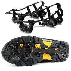 1 Pair Professional Camping Climbing Ice Crampon 24-Stud Anti Slip Ice Snow Walking Shoe Spike Grip Outdoor Equipment