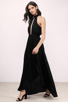 At The Top Black Maxi Dress