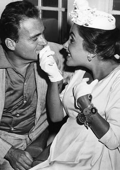 Mike Todd and Elizabeth Taylor, 1950s.