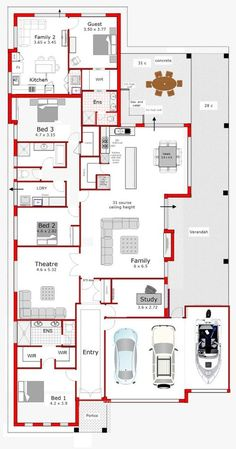 Nice Home Decor Helpful Techniques For modern home design plans House Layout Plans, Family House Plans, Bedroom House Plans, Dream House Plans, Modern House Plans, House Layouts, Modern House Design, House Floor Plans, Home Design Floor Plans