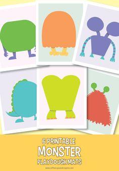 Free printable monster play dough mats!
