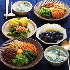 2015/9/21 月 #晩ごはん ・ 今夜は ビビンパど〜ん🍚 ・ 混ぜ混ぜ 盛り盛り 頂きました〜💨 ・