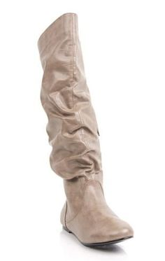 Wide Calf Flat Slouch Boot with Round Toe | Get IN MY CLOSET ...