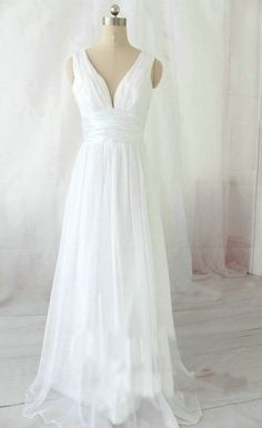 cheap white off shoulder long chiffon beach wedding dress | Cheap beach wedding dresses Sale