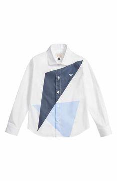 3e0775619fd Armani Junior Geo Print Dress Shirt (Little Boys   Big Boys) Polo Jeans