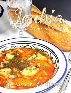 Loubia algerienne en sauce rouge Algerian Recipes, Algerian Food, Gourmet Recipes, Healthy Recipes, World Recipes, Dinner Dishes, Easy Cooking, Chana Masala