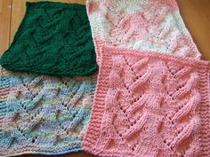 Free+Knitting+Pattern+-+Dishcloths+&+Washcloths+:+Vine+Lace+Cloth