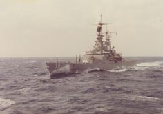 USS Texas (CGN-39) in the Virginia Capes operating area, 1980.