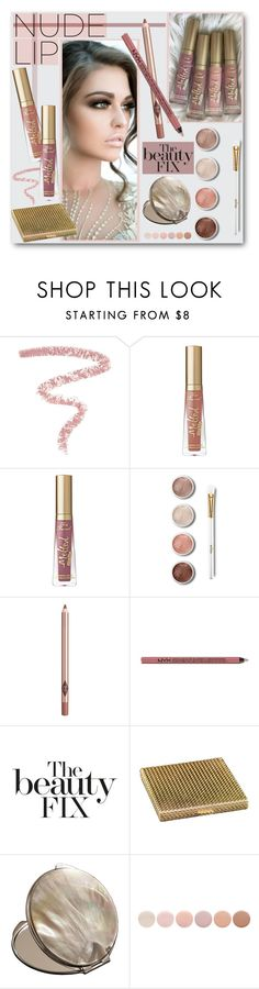 """""""The Perfect Nude Lip"""" by brendariley-1 ❤ liked on Polyvore featuring beauty, Bobbi Brown Cosmetics, Too Faced Cosmetics, Terre Mère, Charlotte Tilbury, NYX, Boucheron, Cedes, Deborah Lippmann and nudelip"""