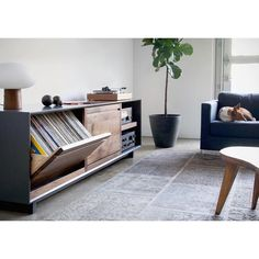 Audio console specialists with your Sunday night feature. Vinyl Record Storage, Lp Storage, Record Player Console, Vynil, Vinyl Room, Audio Room, Room Planning, Mid Century Modern Furniture, Living Spaces