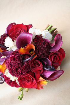 Wedding Florals: Beautiful Cockscomb Inspiration