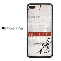 Invisible Hunter Hayes Lyric Quotes With Signature Iphone 7 Plus Case