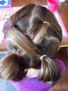 school hair little girls - Easy hair dos to keep their hair out of their face.