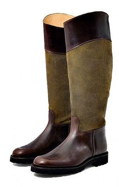 3a8bcca1 Ladies Contrast Panel Boot | Shoes & Boots | House Of Bruar Country  Outfits, Riding