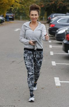 Looking good! Lauren Goodger showed off the results of her healthy lifestyle when she stepped out at a fitness centre in Essex on Thursday