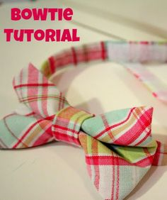 One Dog Woof: Toddler Bow Tie Tutorial - Dress up the little man for Thanksgiving and holiday parties!