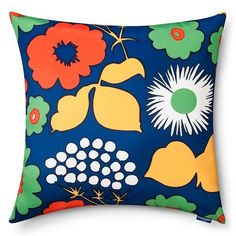Marimekko for Target Indoor/Outdoor Square Pillow - Kukkatori Print - Primary : Target