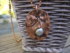 """Native Symbol Copper Pendant with 24"""" copper ball chain. by NAKOBI on Etsy"""