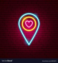 Love map pin neon sign vector image on VectorStock Neon Wallpaper, Cute Wallpaper Backgrounds, Cute Wallpapers, Frases Instagram, Instagram Logo, Neon Signs Home, Neon Quotes, Neon Words, Neon Logo