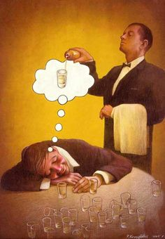 What is alcoholic dream about?