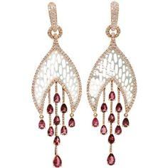 INBAR Carved Mother-Of-Pearl Earrings