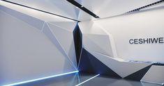 FRONTOP:过程稿,展厅,|空间|展示设计 |Auerh - 原创作品 - 站酷 (ZCOOL) Bank Interior Design, Lab Logo, Pharmacy Design, Futuristic Interior, Future Office, Museum Exhibition, Design Museum, Stage Design, Ceiling Design