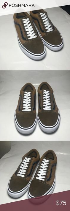 Vans Old Skool Pro Great Vans! These where only worn once!! No scratches or fuzz on the suede. The bottoms are impeccable. Vans Shoes Sneakers