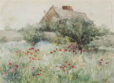 John La Farge (1835-1910) | Irving Barker House, Paradise Hills | AMERICAN ART Auction | 19th Century, Drawings & Watercolors | Christie's