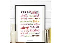 Affiche ' Mamie ' - Fête des Grands-Mères : Affiches, illustrations, posters par affiche-rgb4you