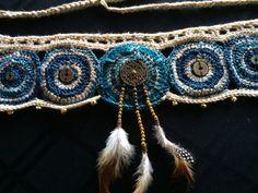 Yin & Yang tribal fusion inspired crochet utility belt by HorizonsEd3e, $80.00