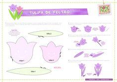 Flor de Feltro (com molde)