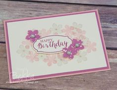 Stampin' Up! UK Feeling Crafty - Bekka Prideaux Stampin' Up! UK Independent Demonstrator: Pretty Pinks Birthday Card Made Using Supplies from Stampin' Up! UK