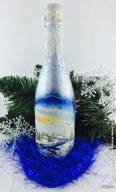 Декупаж - Сайт любителей декупажа - DCPG.RU | Шампанское, №1: «Тоска по зиме»…