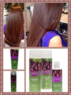 Create ur Gloss w Mastey Colors. Use me first Shampoo to detox hair. CG 2oz+ 6.4 Teinture 2 oz, leave on 15 min, on    level 6. rinse very well and apply restorative mask from Mastey  color protecting line. Leave mask for 5 minutes then rinse. Do not shampoo hair. Shampoo from color protecting line is Recommended. Apply Oil leave in treatment to protect hAir, add shine and  diminish drying time. Define texture and add dimension w defining cream. Secure it w  finishing spray. Www.mastey.com