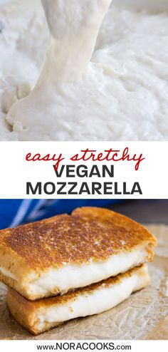 Stretchy Vegan Mozzarella Cheese - Nora Cooks Coconut Curry Ramen with a creamy golden broth, pan-fried vegetables, cubes of golden brown tofu, and steamy delicious ramen noodles. Bonus: it's vegan! Vegan Cheese Recipes, Vegan Mac And Cheese, Delicious Vegan Recipes, Vegan Foods, Vegan Dishes, Vegetarian Recipes, Yummy Food, Vegan Vegetarian, Cashew Cheese