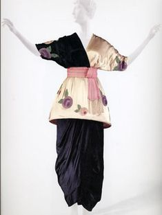 Kimono inspired evening dress by Paul Poiret, Japanism, 1913