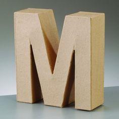 Lettre M en carton hauteur 10 cm | Femme2Deco