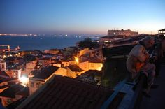 The view from Miradouro de Portas do Sol, Lisbon, Portugal.