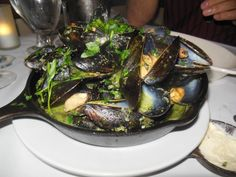 Fricassee, Montclair, NJ: Prince Edward Island mussels with white wine, garlic & herbs.