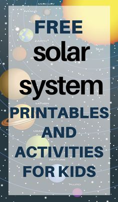 Activities and printables to help your children learn all about the solar system! From coloring pages to games to worksheets and even some great websites! - Kids education and learning acts Solar System Worksheets, Solar System Activities, Solar System Projects, Space Activities, Science Activities, Activities For Kids, Solar System Games, Planets Activities, Wedding Activities