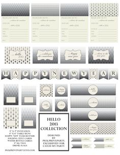 FREE New Year's Party Printables from Pick.Print.Party. | Catch My Party