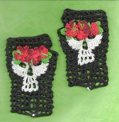 PDF Feliz Cumpleaños Frieda Kahlo Crochet  Day of the Dead Skull Fingerless Glove Crochet Patern on Etsy, $1.00