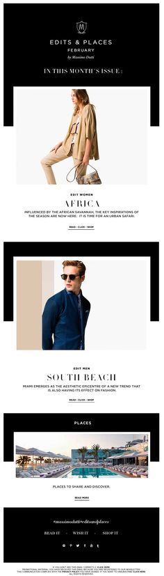 Massimo Dutti Newsletter l Edit Men & Women February. Latest trends and style tips