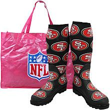 San Francisco 49ers rain boots...if only it rained in LA