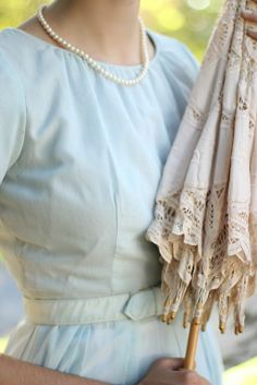 Southern Charm. You never went to town without your pearls and a parasol