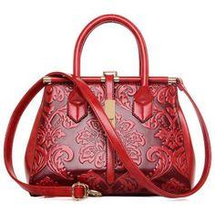 2016 Fashion Embossed Leather Women Handbag Quality Leather Women Bag Vintage Shoulder Bag Chinese Style Ladies Bag sac a main