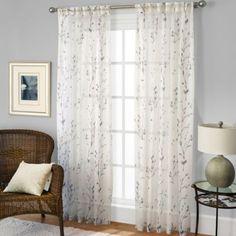 Willow Print Window Curtain Panel - BedBathandBeyond.com
