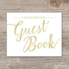 printable wedding guest book sign gold guestbook sign printable instant download gold wedding signs