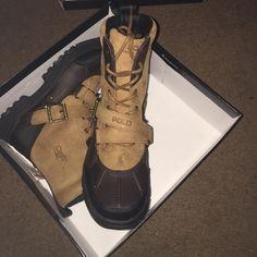 Ralph Lauren polo boots Tan/chocolate Ralph Lauren boots youth size 5. New in box Polo by Ralph Lauren Shoes Winter & Rain Boots